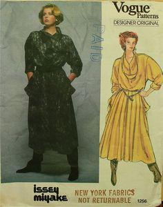 1980s Issey Miyake Designer Original Vogue by patterntreasury, $26.95