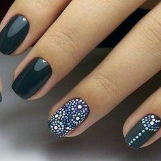 Pretty Nail Designs, Simple Nail Art Designs, Nail Manicure, Diy Nails, Manicure Ideas, Love Nails, Pretty Nails, Henna Nails, Gel Nagel Design