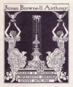 Susan B. Anthony - stamp cover