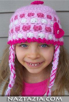Crochet hat from Naztazia~crochet, hat, girl