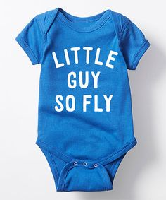 Look what I found on #zulily! Royal Blue 'Little Guy So Fly' Bodysuit - Infant #zulilyfinds