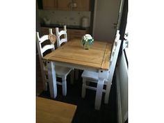 Shabby chic dining table and chairs  Manchester Picture 1
