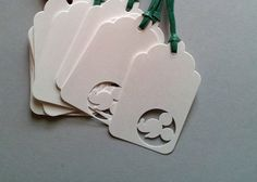 Mickey Profile Gift Tags  Hand Punch Die Cut  by Paperfectionary, $4.00