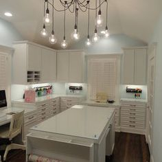home office & crafting room for Graphic Designer