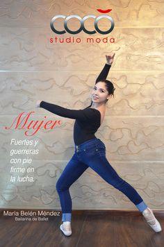 Nuestra hermosa bailarina luciendo un jean STUDIO F