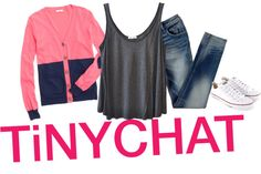 """TINYCHAT."" by the-tip-girls-of-neverlan ❤ liked on Polyvore"