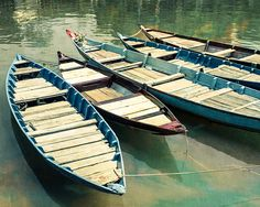 Boat photo wooden boats Hoi An Vietnam travel photography