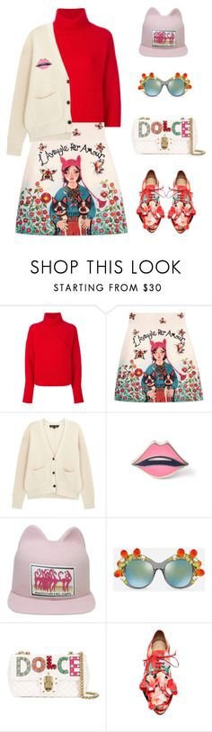 """""""484. Thank you for 3000+ followers!"""" by sollis ❤ liked on Polyvore featuring Le Kasha, Gucci, Proenza Schouler, Maison Michel, Dolce&Gabbana, StreetStyle, dolceandgabbana, gucci, cartoons and StreetChic"""