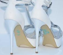 Unik Occasions - Pearl I Do Wedding Shoe Stickers - Blue