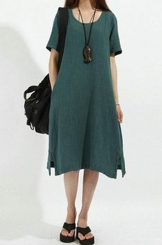 Graceful Summer Long Cotton Dress(more colour and size choice)