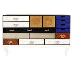 Boca Do Lobo Soho Silver, Lacquer, Mirror, Gold, Brass, Glass Lacquer Sideboard   From a unique collection of antique and modern sideboards at https://www.1stdibs.com/furniture/storage-case-pieces/sideboards/