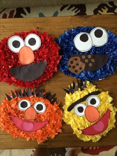 Tissue paper Sesame Street characters