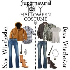 Supernatural DIY Halloween Costume: Sam And Dean Winchester by…