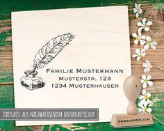 Adressstempel - Adressstempel   Familienstempel   39 - ein Designerstück von Dr_Grazer_und_Co bei DaWanda Etsy, Craft Gifts, Patterns