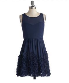 Stunning navy blue bridesmaid dress!! From modcloth.