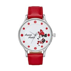 Disney's Minnie Mouse Women's Red Dot Watch, Size: Large