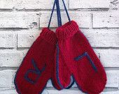 hand knitted warm mittens, chunky knit mittens, red mittens, wool mittens, Winter Fashion, UK seller, ready to ship