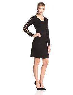 Calvin Klein Women's Cutout-Sleeve Knit Dress,Black,Small Calvin Klein http://www.amazon.com/dp/B00PIU05YI/ref=cm_sw_r_pi_dp_hoZMvb1KF27EB