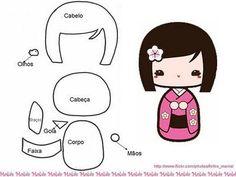 Fofuchas Eva e Cia: Japonesinha