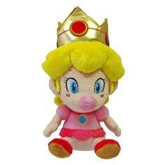 Nintendo Official Super Mario Plush Baby Peach, 5-Inch