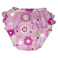 I Play Toddler Girls' Floral Swim Diaper