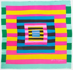 Gene Meyer scarf  Doug and Gene Meyer Studio, this is amazing inspiration for an afghan or quilt.