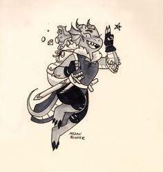 Inktober Day 18: Tiny Rogue! 🗡️💰🗝️