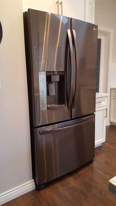 Black Stainless Fridge French Door Refrigerator, French Doors, Kitchen Appliances, Black, Home, Diy Kitchen Appliances, Home Appliances, Black People, Ad Home