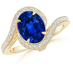Pave Diamond Halo Sapphire Curved Shank Ring ($19,429) ❤ liked on Polyvore featuring jewelry, rings, pave diamond ring, oval sapphire ring, vintage sapphire ring, vintage jewelry and sapphire jewellery