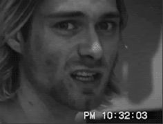 Kurt Cobain smiling , that smile is one of the most beautiful things I've ever seen. We miss and love you Kurt R.I.P