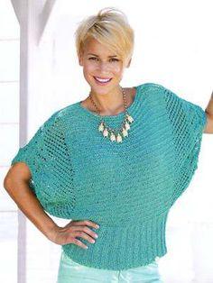 An OnLine design Gilet Crochet, Knit Crochet, Crochet Designs, Knitting Designs, Knitting Magazine, Summer Knitting, Sweater Knitting Patterns, Knitting Accessories, Knit Fashion