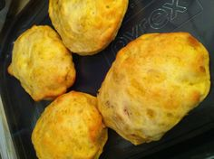 Chicken pot pie biscuits... ((Need: Can of eight Grands biscuits, 12 oz chicken cooked/canned, 1 can veg all, & 3 tablespoons of cream of chicken. Mix filling. Open each biscuit, fill, seal sides and bake as directed.)) Easy & YUM!