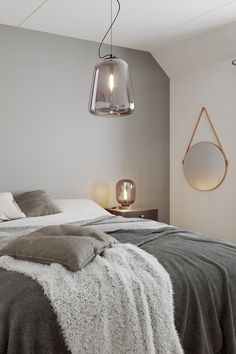 The Leola ceiling lamp is a modern glass lamp in smoke-coloured glass. The glass has a nice, soft design and produces a pretty light. The ceiling lamp goes just as well in the bedroom as in the lounge. Black Ceiling, Ceiling Rose, Ceiling Lamp, Glass Pendant Light, Glass Pendants, Pendant Lighting, Pretty Lights, Modern Glass, Colored Glass