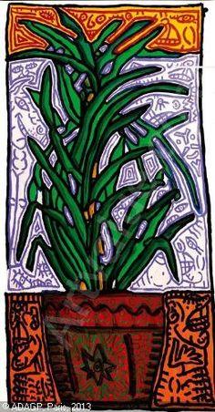 COMBAS Robert - Plante à verte, noconvingtculs ou Plante verte en décoration combassienne