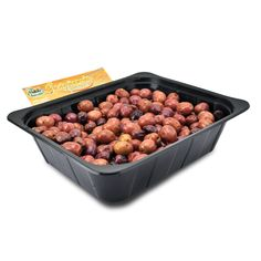 IT   OLIVE NERE GRECHE CONDITE: il condimento è molto semplice: olio e peperoncino. la semplicità della ricetta e la sua forza.  EN   GRECIAN RECIPE: HUGE NATURAL OLIVES AND SPICES: this simple recipe is prepared with whole amphissa olives and chili peppers.  http://www.ficacci.com/scheda.asp?id=41&idgamma=43&categ=prodotti