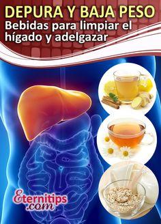 Bebidas para desintoxicar y depurar tu higado y perder peso rapido