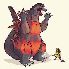 Godzilla (Burning) by TheBeastIsBack.deviantart.com on @DeviantArt