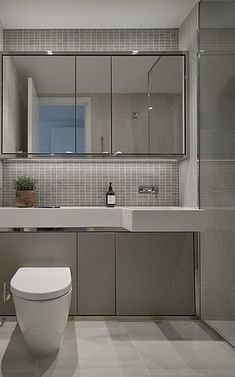 The first Build to Rent development in London's Canary Wharf - where the flats were built for renting only - has opened to tenants, with rental prices starting at a month for a studio. Small Bathroom Window, Small Shower Room, Small Bathroom Interior, Small Toilet Room, Small Bathroom Layout, Shower Over Bath, Baths Interior, Fitted Bathroom, Modern Bathroom Design