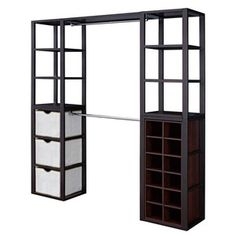 Costco has this for 200 bucks! This will be perfect for the add-on room by the kitchen. It has NO closet and this will fit on the wall. Could easily hang a curtain around it if wanted.