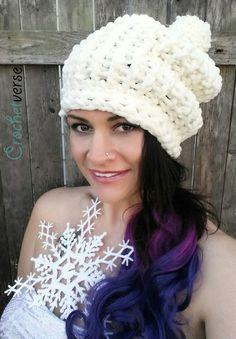 Work this Tunisian Crochet hat on a REGULAR hook with Bernat Baby Blanket!