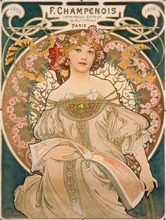 Obraz: Alphonse Mucha - Poster of F. Champenois.