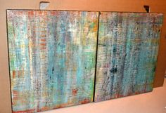 Pair of Abstract Paintings - Perfect for Use Outdoors | From a unique collection of antique and modern paintings at http://www.1stdibs.com/wall-decorations/paintings/