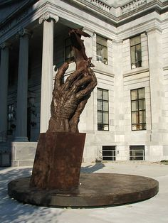 Montgomery County, PA memorial to those lost on September 11, 2001. The sculpture incorporates a twisted steel beam salvaged from the World Trade Center. 9-11 #NeverForget #911 #Remembering911 9/11/2001
