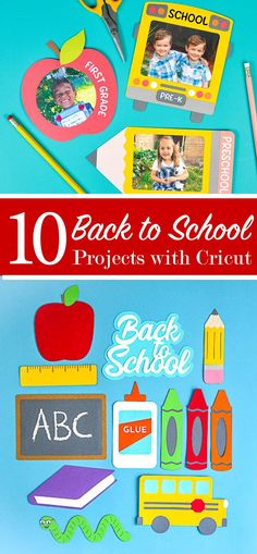 10 back to school projects all created with a Cricut. Including customized backpacks, notebooks, planners, pencil cases and more. Fall Projects, School Projects, Craft Projects, Diy Pencil Case, Pencil Cases, Bee Crafts, Crafts To Do, Personalized School Supplies, Do It Yourself Organization