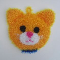 Tawashi Éponge Vaisselle écologique lavable en machine tête de chat 🐱🌼❤💜💙 Creative Bubble, Pot Holders, Etsy, Knit Crochet, Diy And Crafts, Projects To Try, Bubbles, Knitting, Cute