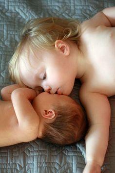 sibling photo: Sibling Love... newborn with older sibling www.BellamyGrace.com