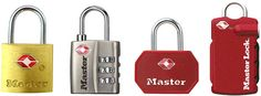 2004 - Master Lock introduced its first TSA approved travel lock numbe4 4680.