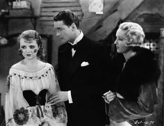 Janet Gaynor as Heather Gordon Charles Farrell as Larry Beaumont and Virginia Cherrill as Diana Van Bergh in the 1931 musical comedy Delicious