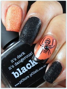Textured Halloween Nails | #halloween #nailart #halloweennails