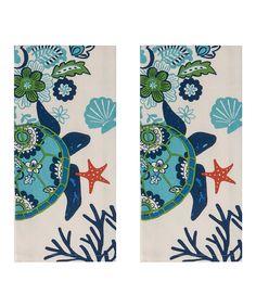 Look at this #zulilyfind! Oceana Tea Towel - Set of Two by Kay Dee Designs #zulilyfinds